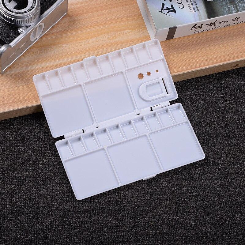1pcs 25 Grades Caixa de Latas De Tintas Aquarela Paleta Vazia com Panelas Panelas Metade Completo para a Arte Guache Pintura Acrílica fontes da arte