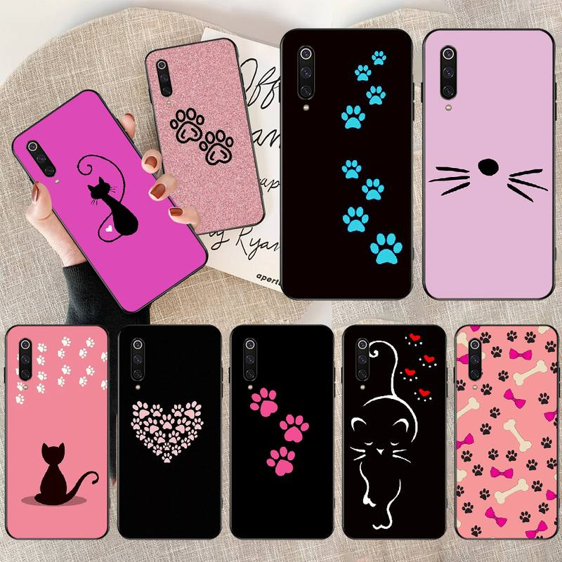 PENGHUWAN huella de perro gato diseño personalizado foto suave teléfono caso para Redmi Nota 8 8A 7 6 6A 5 5A 4 4X 4A Go Pro Plus Prime