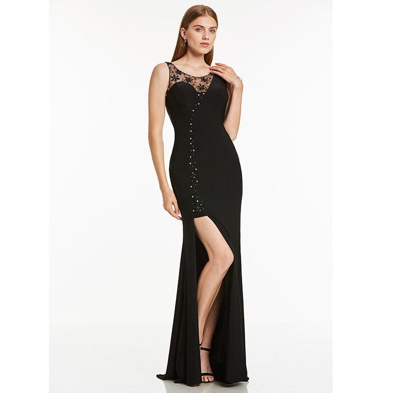 Женское вечернее платье с глубоким вырезом Dressv, Красное длинное платье с бисером, без рукавов, недорого, для свадьбы, вечевечерние, вечернее ...
