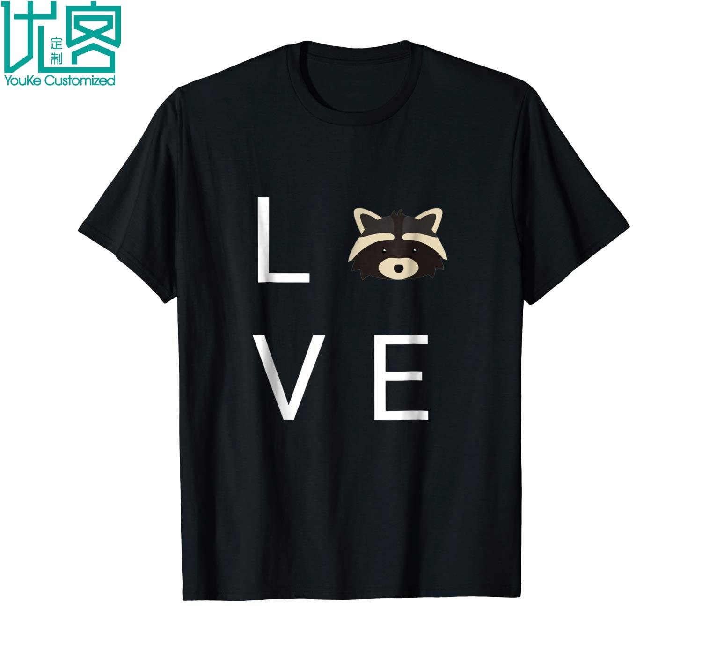 Raccoon Love Trash Panda T Shirt 2020 Summer men's Short Sleeve t-shirt