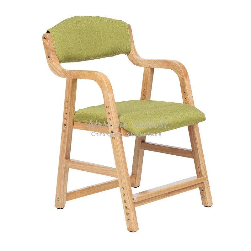 Chaise de levage pour enfants enfants siège en bois massif chaises détude chaise de bureau arrière chaise décole primaire chaise décriture à la maison Dotomy