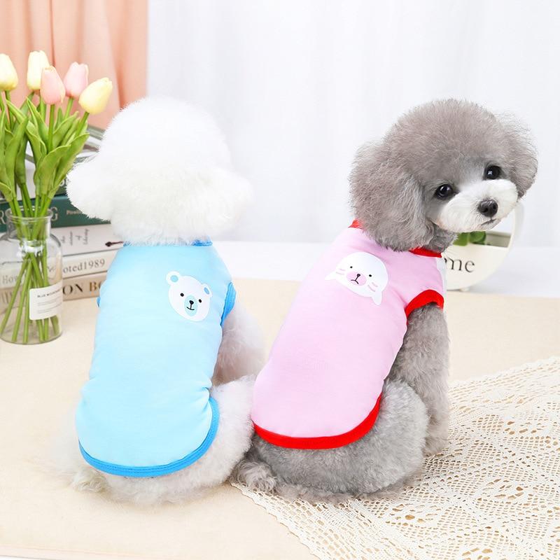 Disfraces de perro pequeño perro lindo Animal de la impresión de verano...