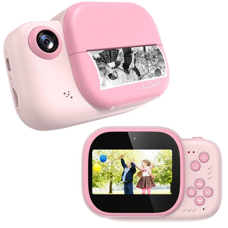 كاميرا الأطفال كاميرا الطباعة الفورية للأطفال فيديو صور كاميرا رقمية للأطفال كاميرا الطباعة مع 3 لفات الورق الحراري