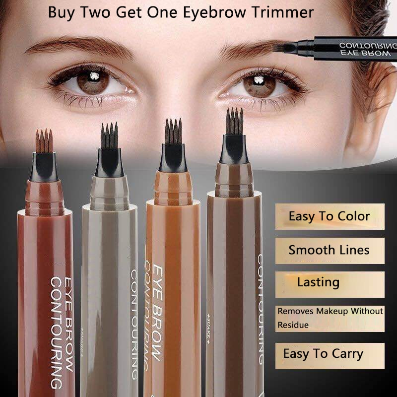 Lápiz líquido para cejas 3D de 5 colores resistente al agua, antimaquillaje y lápiz de cejas Anti-real, cosméticos