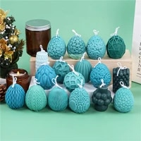a set of geometric easter eggs silicone candle mold for desktop decoration gypsum chocolate aromatherapy candle silicone mould
