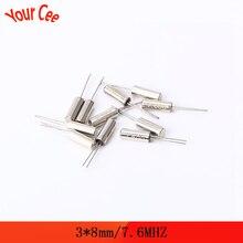 10 pcs/lot fréquence résonateur oscillateur cristal Cylender 3*8mm 3X8mm 7.6MHZ 7.6 MHz Quartz cristal bricolage Kit électronique