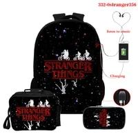 2021 multifunction fashion stranger things backpacks high quality unisex bagpack school bag for teenage girls travel back pack