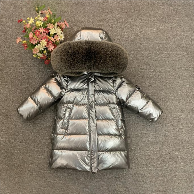 Real Fur Hooded Baby Boys Down Jacket Winter Warm Girl Coats Outdoor Windproof Children Snow Clothes Thick Kids Parkas Outerwear enlarge