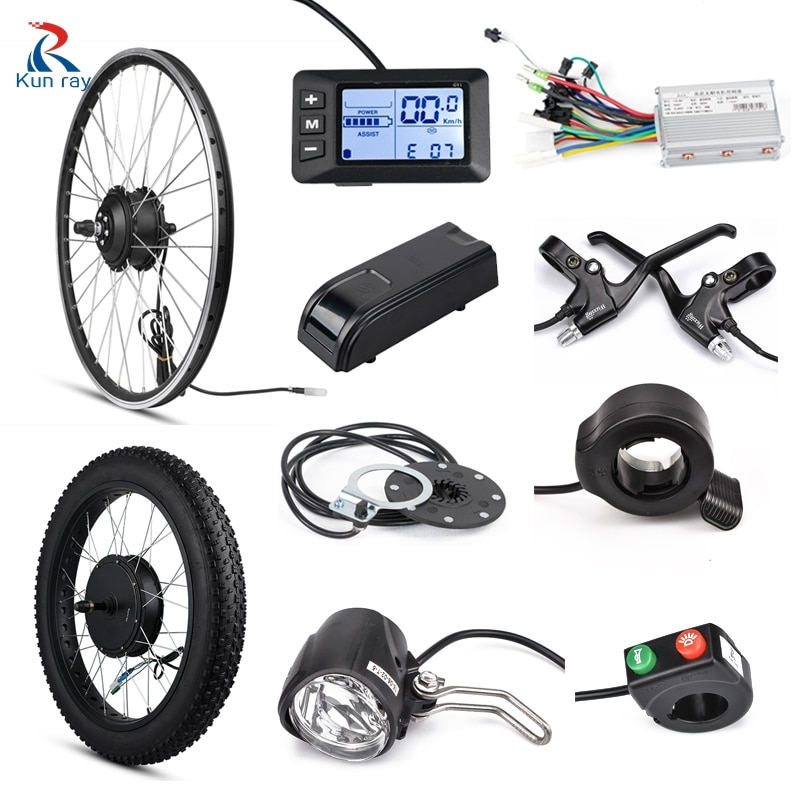 Fat Bike Electric Hub Motor 72V 3000W Ebike Kit Electric Conversion Kit 26inch With Display G51 Controller 350W