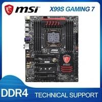 Fur MSI X99S GAMING 7 X99 LGA 2011 v3 Motherboard DDR4 Quad Kanal i7 Prozessor x99 Bergbau Gaming PC PCIE 3rd Gen x16 Slot Verwendet