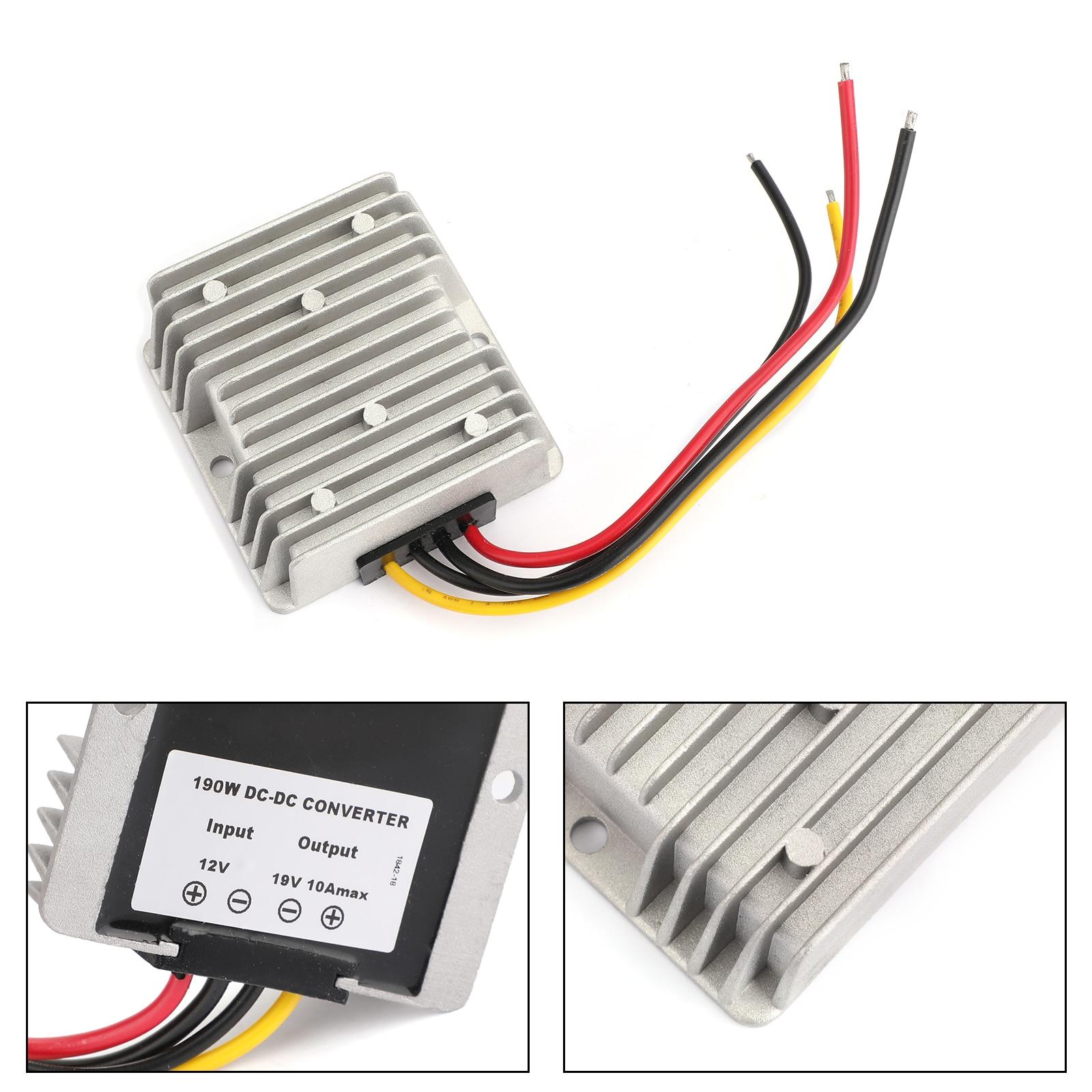 Areyourshop 12 فولت إلى 19 فولت DC-DC دفعة تصعيد محول طاقة الجهد 10A 190 واط وحدة منظم الفولتية
