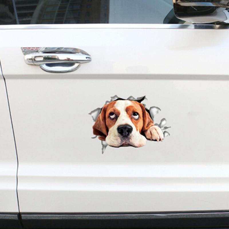 3D pegatina de coche creativa perro etiqueta engomada impermeable de baño decoración casa decoración de la habitación de cocina pared mural para frigorífico arte