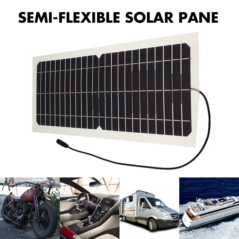 10 w semi-flexível painel solar saída usb células solares kit célula solar monocristalina módulo diy ao ar livre dc 12 v/18 v barco carregador