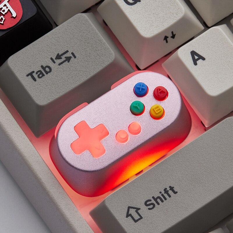 سبائك الألومنيوم keycap لعبة لآلة مقبض لوحة المفاتيح الميكانيكية keycap المعادن الخلفية شخصية keycap