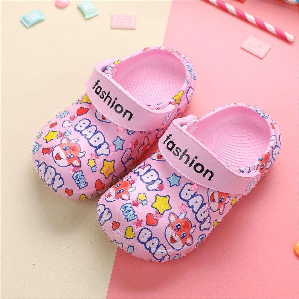 Шлепанцы для мальчиков и девочек, мультяшная обувь, летние тапочки для начинающих ходить детей, комнатные тапочки, пляжные тапочки для плав...