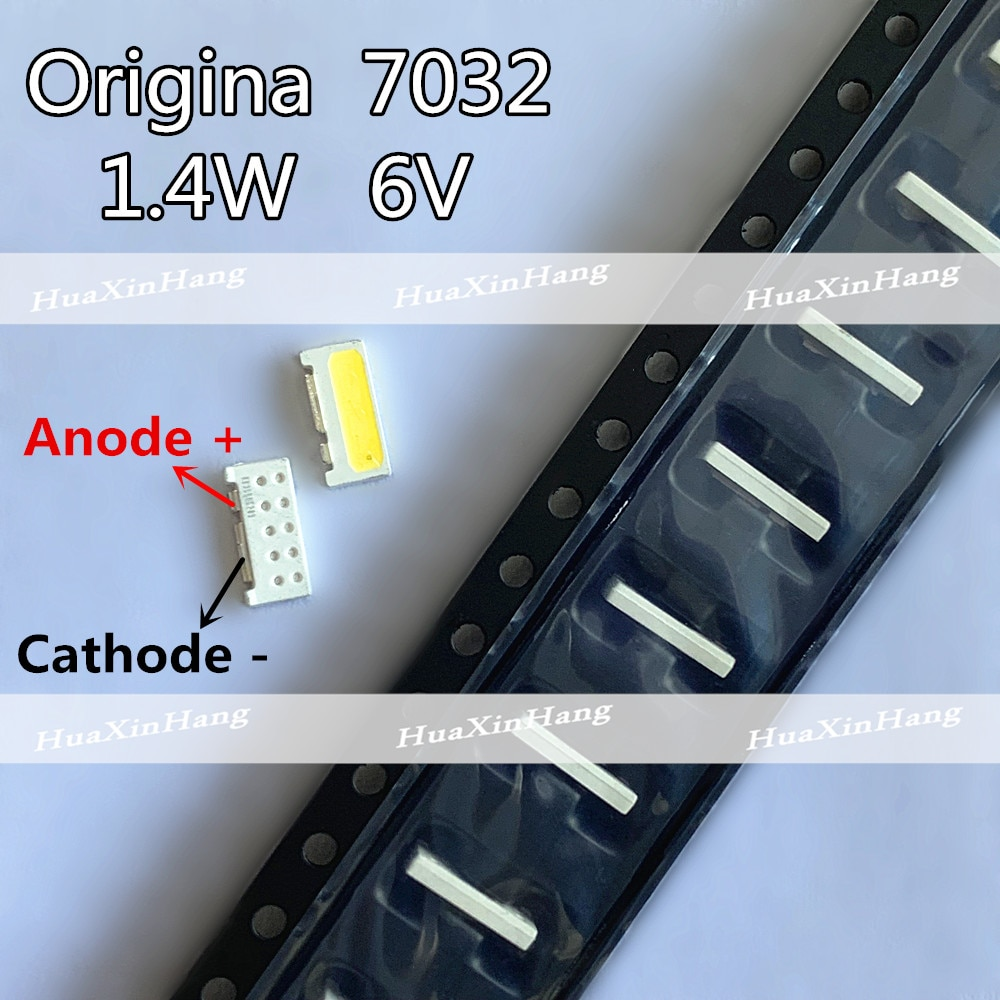 200 pçs/pçs/lote borda smd led 7032 6 v 1 w-1.5 w 160ma branco fresco de alta potência para tv backlight