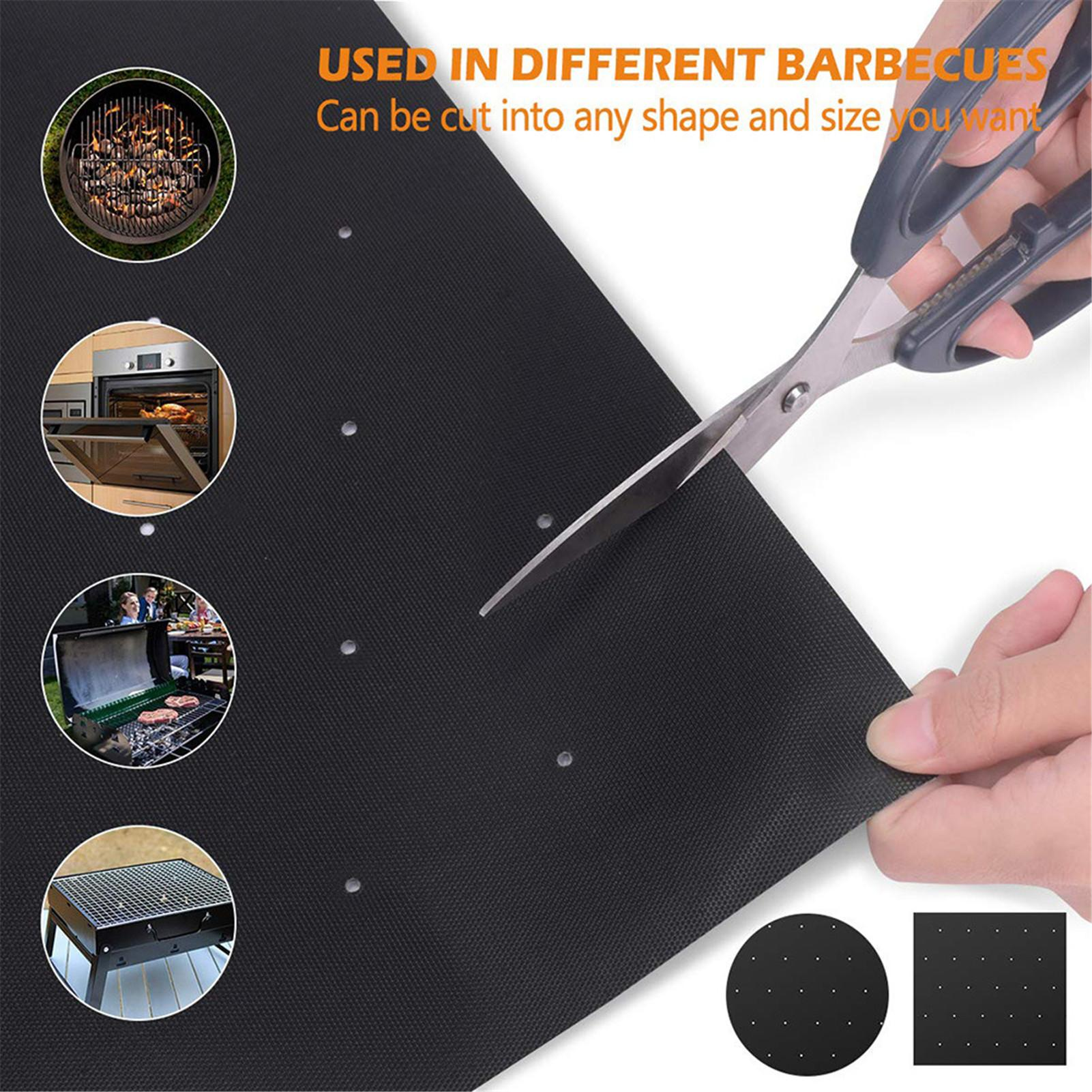 1/3/5PCS Non-stick BBQ Grill Mat Baking Mat Cooking Grilling Sheet Heat Resistance Cleaned Kitchen For Party