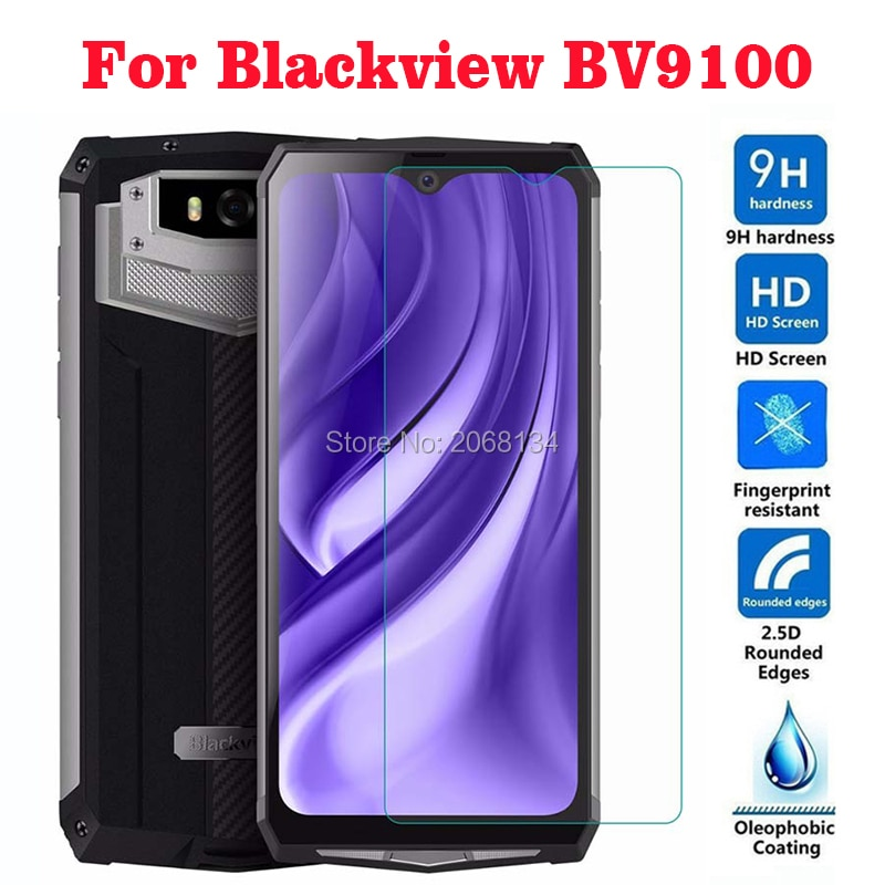 Tempered Glass For Blackview BV9100 9H Front Saver Protective Film Explosion-proof Screen Protector