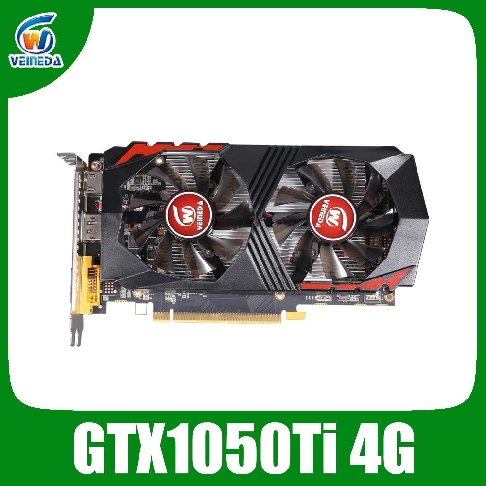 Видеокарта Veineda GTX1050Ti 4 Гб 128 бит 1290/7000 МГц видеокарта для nVIDIA Geforce Games