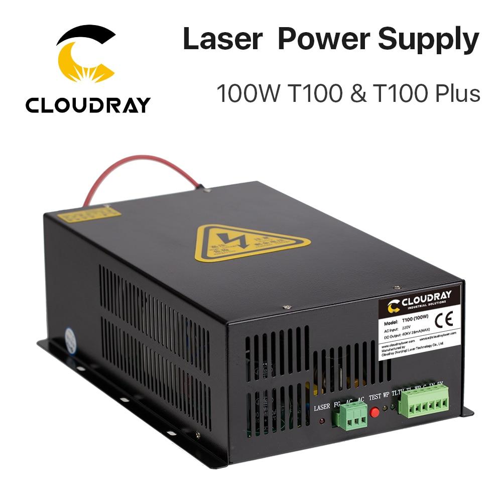 Cloudray 80 Вт-100 Вт CO2 лазерный источник питания для CO2 лазерной гравировки, режущая машина, HY-T100 T/W Plus серия с долгой гарантией