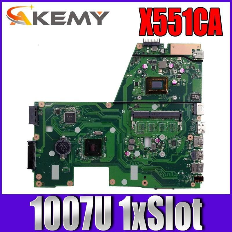 Akemy X551CA لوحة الأم للكمبيوتر المحمول ASUS X551CA X551CAP اللوحة الرئيسية الأصلية 1007U 1xSlot