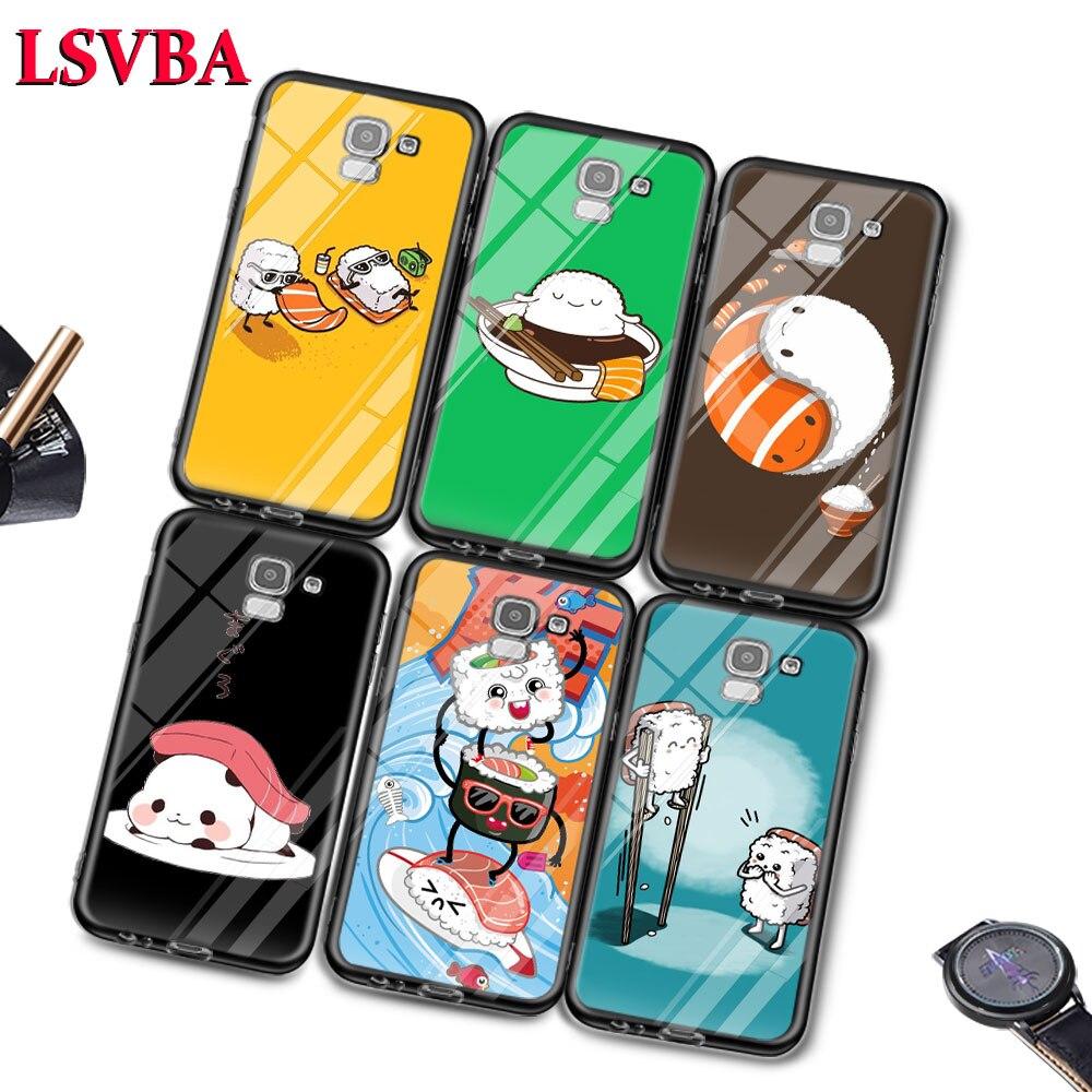 Sushi Pug para Samsung Galaxy J2 J3 J4 J5 J6 J7 Plus Core 2018 2017 2016 Super brillante del teléfono cubierta de la Caja