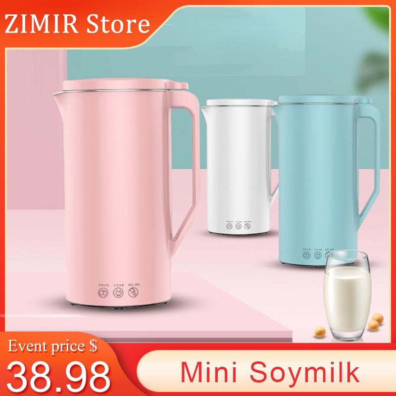 CHUJIN 110V/220V Mini Soymilk Home Small Automatic Multifunction Juicer Blender 350ML Filter-free Soya-Bean Milk Maker Juicer