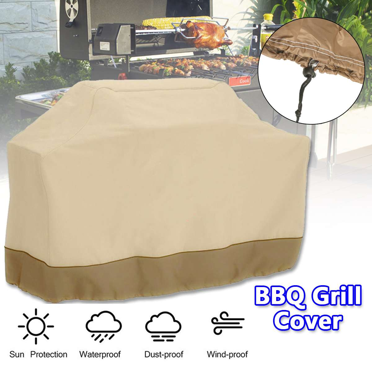 Cubierta impermeable para Barbacoa cubierta para lluvia de exterior a prueba de...