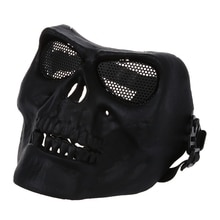 Plein visage protéger effrayant crâne squelette Airsoft Paintball chasse