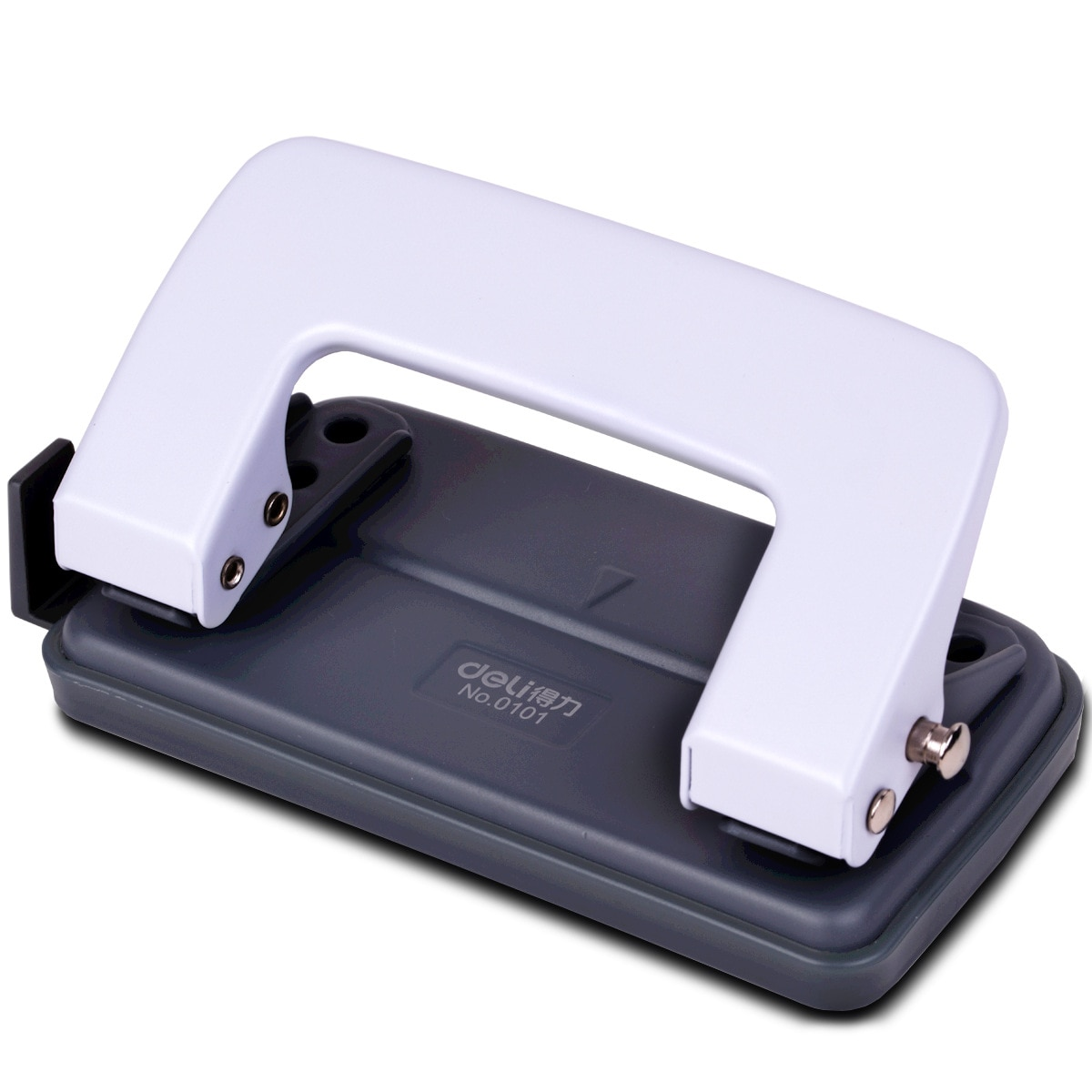 Deli 0101 Office Supplies Hole-Punching Machine Two-Hole Hole Puncher Moving Device Can Play 10 Copy Paper