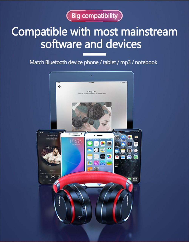 Lenovo HD200 Bluetooth Draadloze Stereo Hoofdtelefoon BT5.0 Lange Standby Leven Met Noise Cancelling Voor Xiaomi Iphone Lenovo Headset 17