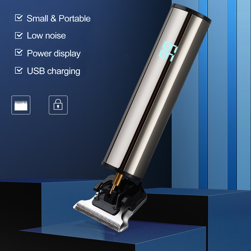 Professional Hair Clipper Mower Electric Hair Trimmer USB Rechargeable Cordless Shaver Razor 0mm Men