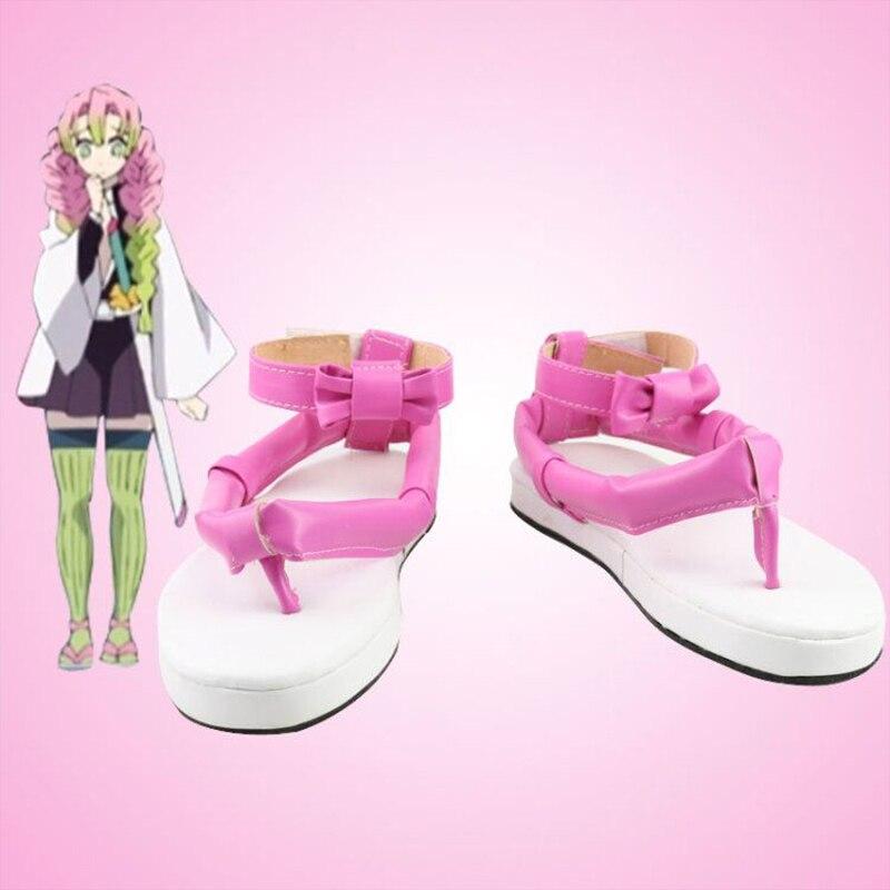 أحذية تنكرية أنيمي كوسبلاي ، Kimetsu no Yaiba ، Demon Slayer ، Kimetsu No Yaiba ، Kanroji Mitsuri ، أحذية Kimetsu no Yaiba