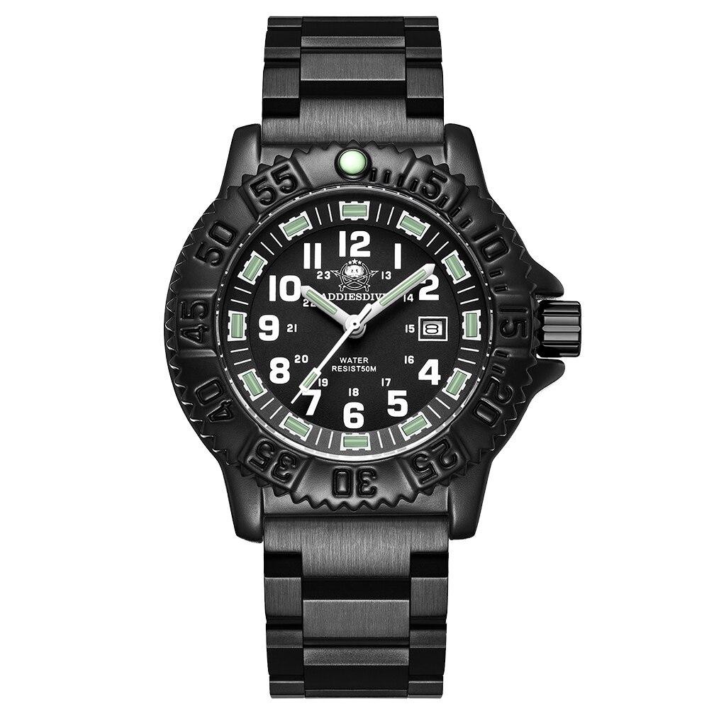 Inoxidável ao ar Relógio de Pulso para Homem Relógio Militar Masculino Nato Náilon Quartzo Relógios Vidro Mineral Aço Livre Luminosa Traqueia Mergulho
