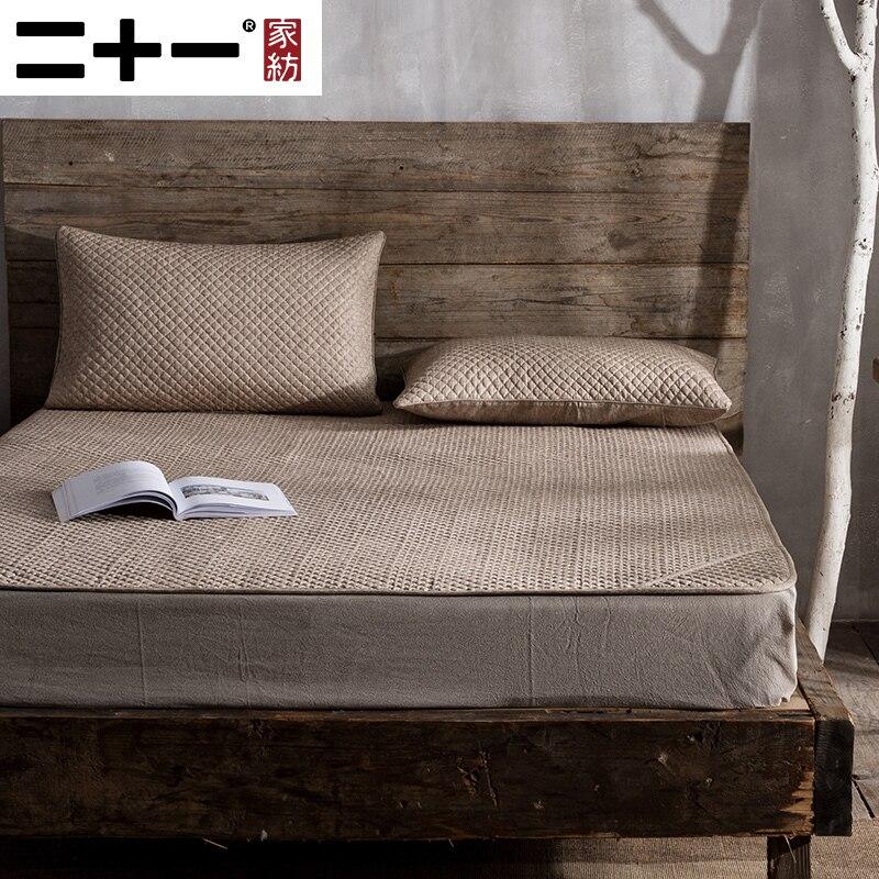 Textiles para el hogar puede lavar algodón Lino verano colchoneta para dormir de tres piezas alfombra de aire acondicionado plegable antideslizante ropa de cama