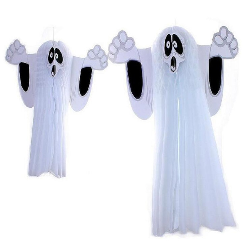 Scary Halloween Paper Folding Decor Home Haunted Ghost House Pub Club Hanging Paper Decorations Halloween Ornament