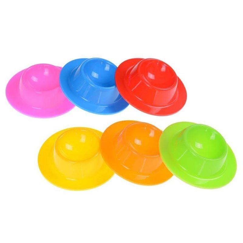 6 pçs copos de ovo de silicone suportes de placa conjunto de ovos caçadores