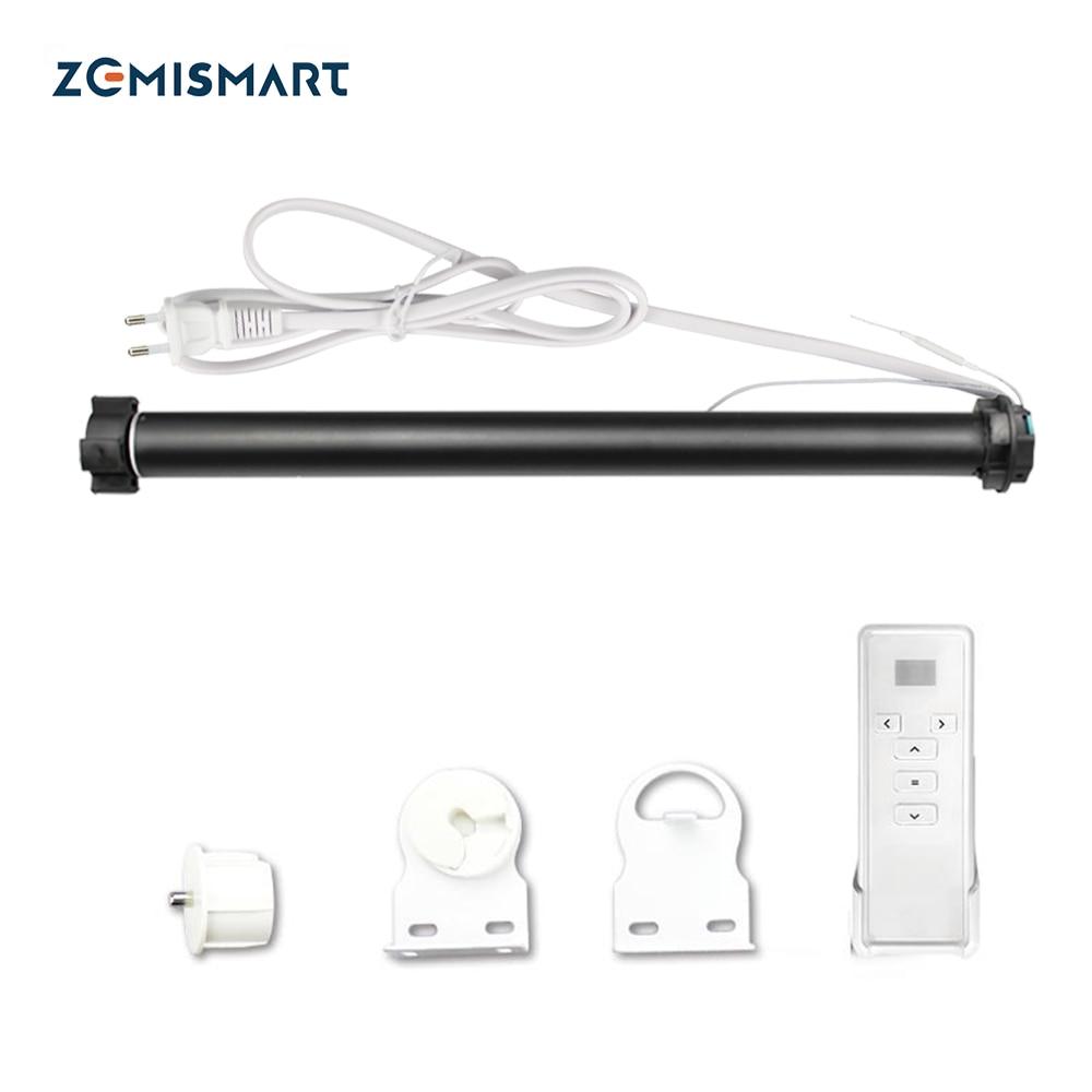 Zemismart WiFi Tuya الحياة الذكية الستار المحرك ل 36 37 مللي متر أنبوب أليكسا جوجل المنزل التحكم الأسطوانة أعمى بمحركات مصراع المحرك