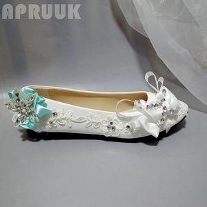 Flats shoes for woman plus size 41 42 white green satin bow crystal rhinestones bridal brides bridesmaid wedding flats shoes