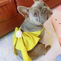 summer bulldog dress pet dresses poodle bichon schnauzer pug dog clothes welsh corgi clothing skirt dropshipping