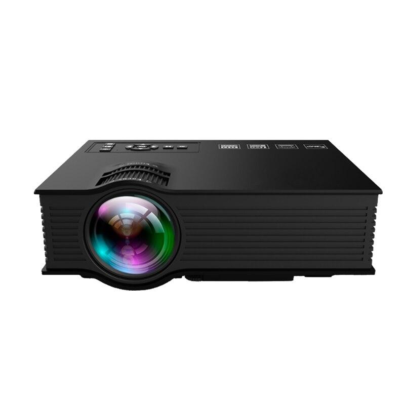 Novo Mini projetor portátil UC68 UC68 + 1080P HD casa LEVOU micro projetor projetor Suporte Miracast Better than UC46 airplay HD