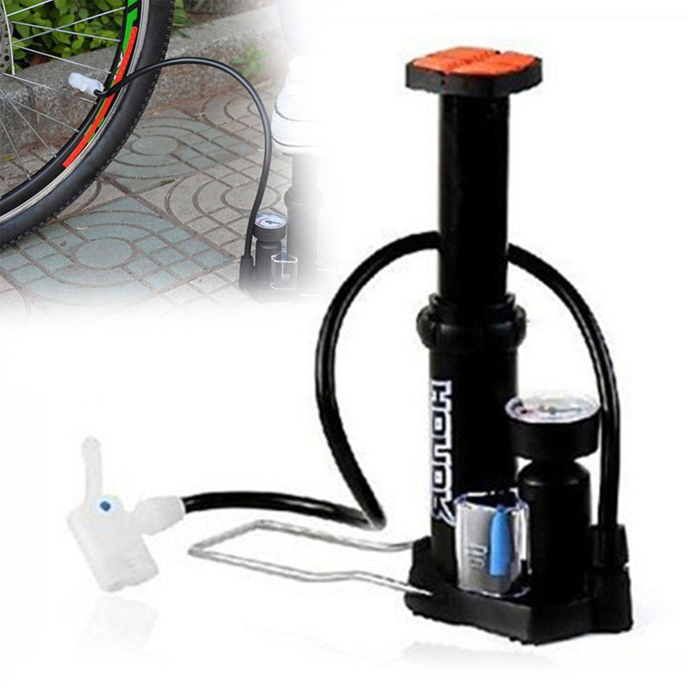 Mini Tragbare Fahrrad Pumpe Fuß Aktiviert Reifen Inflator mit Manometer Presta/Schrader Valave Fahrrad Zubehör