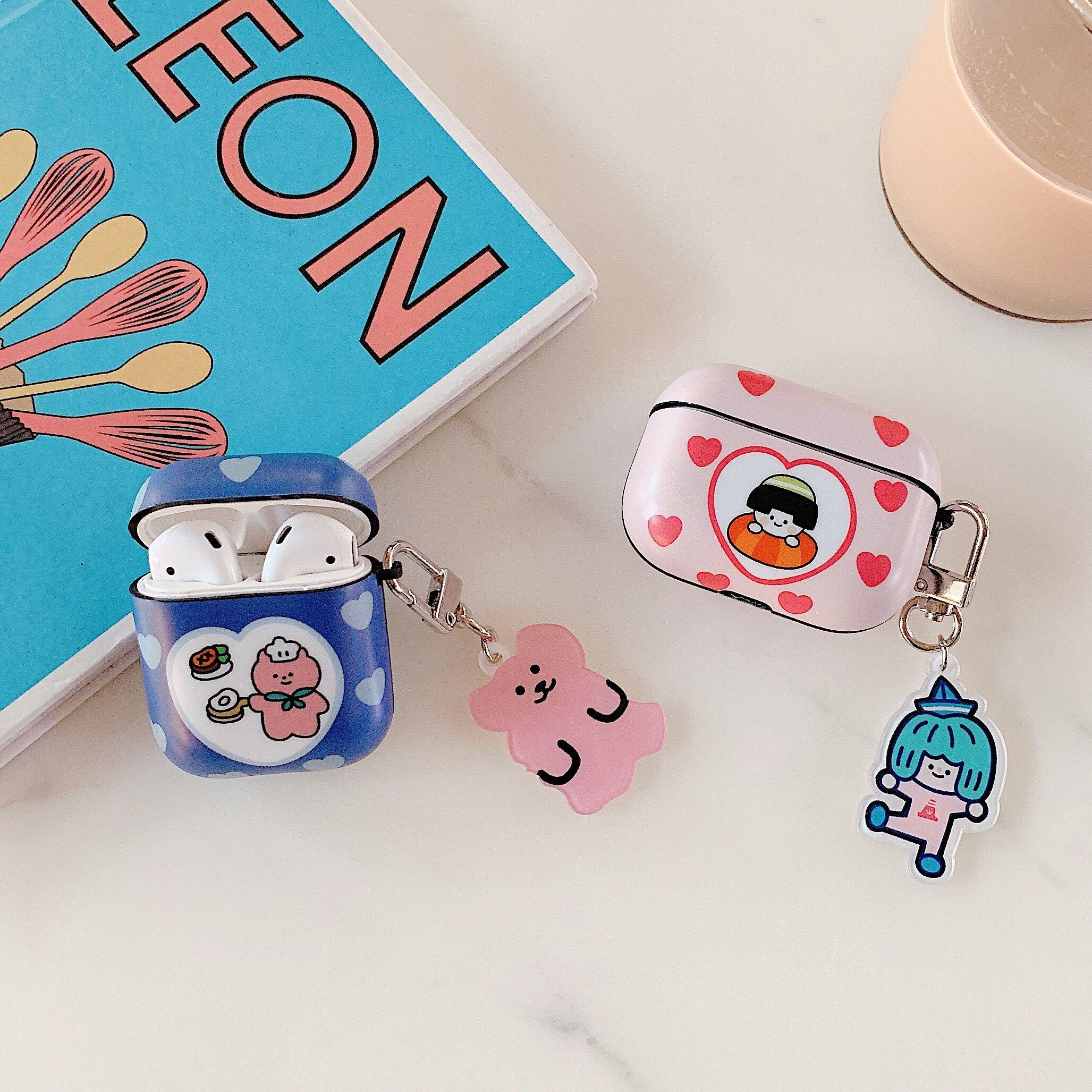 Mode Cartoon cute bear silikon Drahtlose Kopfhörer Lade fall für AirPods 1 2 3 Bluetooth abdeckung tasche box für airpods pro