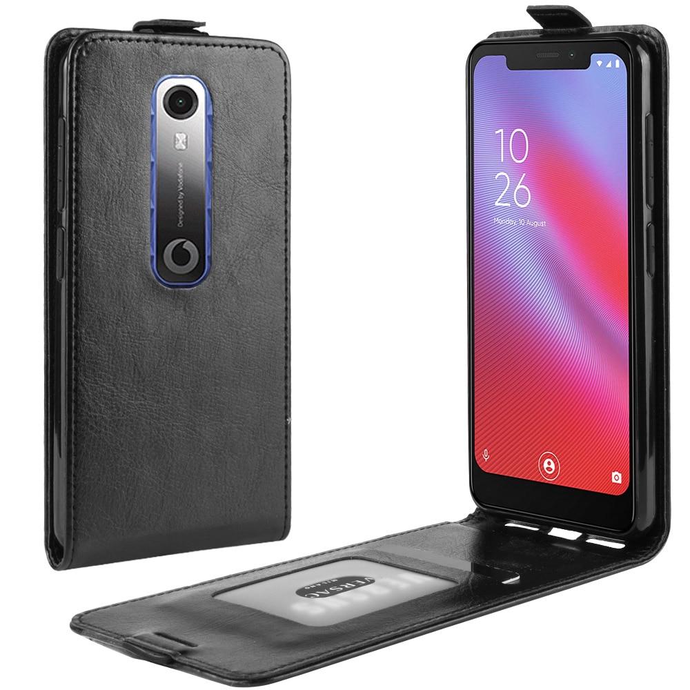 Para vodafone inteligente n10 caso flip couro carteira do plutônio para cima e para baixo colorfull caso de telefone para vodafone inteligente n10 vfd630 capa traseira