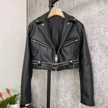 Women Coat Spring Ultra Short Length Import Genuine Leather Jacket New Fashion Female's Clothes With