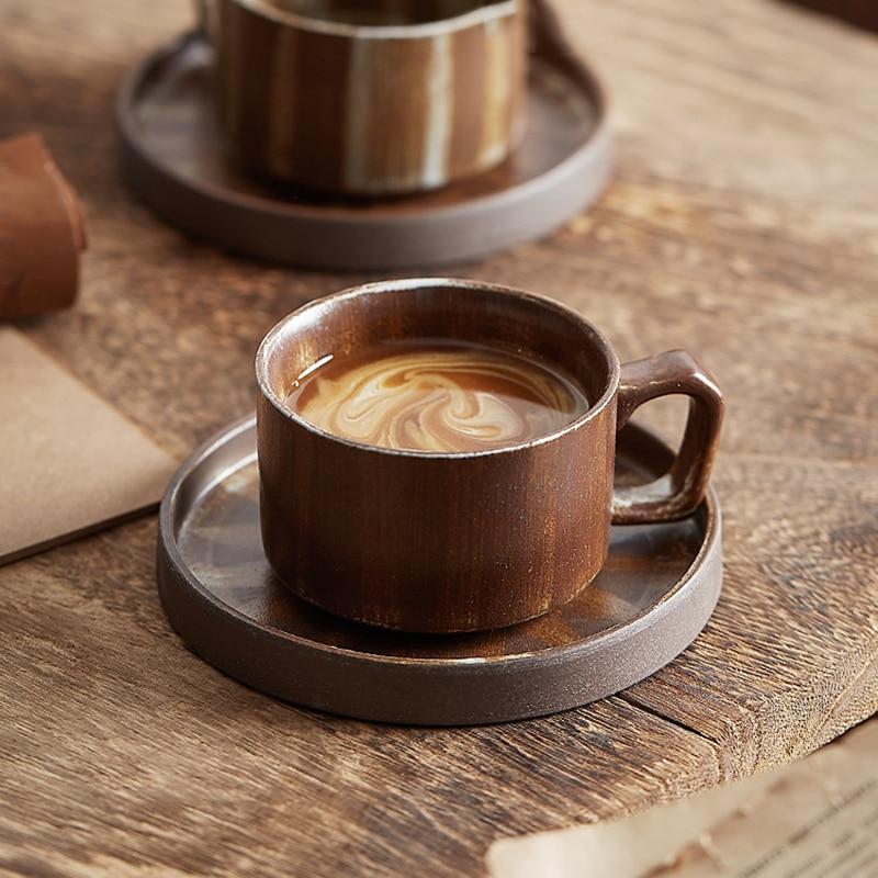 اليابان الفاخرة فنجان القهوة اسبريسو السائبة خمر الإبداعية الجميلة القدح الأصلي الإفطار شاي فقاعات الخزف Caneca السيراميك القدح