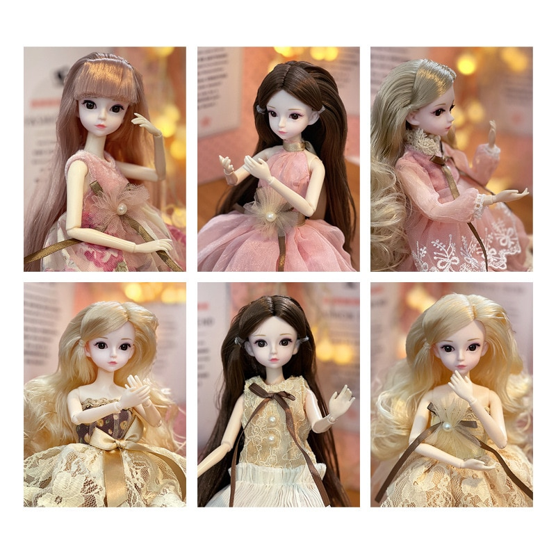 1/6 Ball-jointed Dolls CUTE Toy Makeup For Set Hinged Bjd Doll 30 cm Full Set Making Toys 4 To 6 Years For Girls Kids Chinese