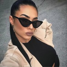 Sexy Cat Eye Sunglasses Women Brand Designer Mirror Black Triangle Sun Glasses Female Lens Shades fo