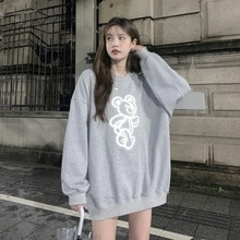 Grey Sweater T-shirt Women's Wear Spring And Autumn Thin 2021 New Loose Korean Round Neck Long Sleev