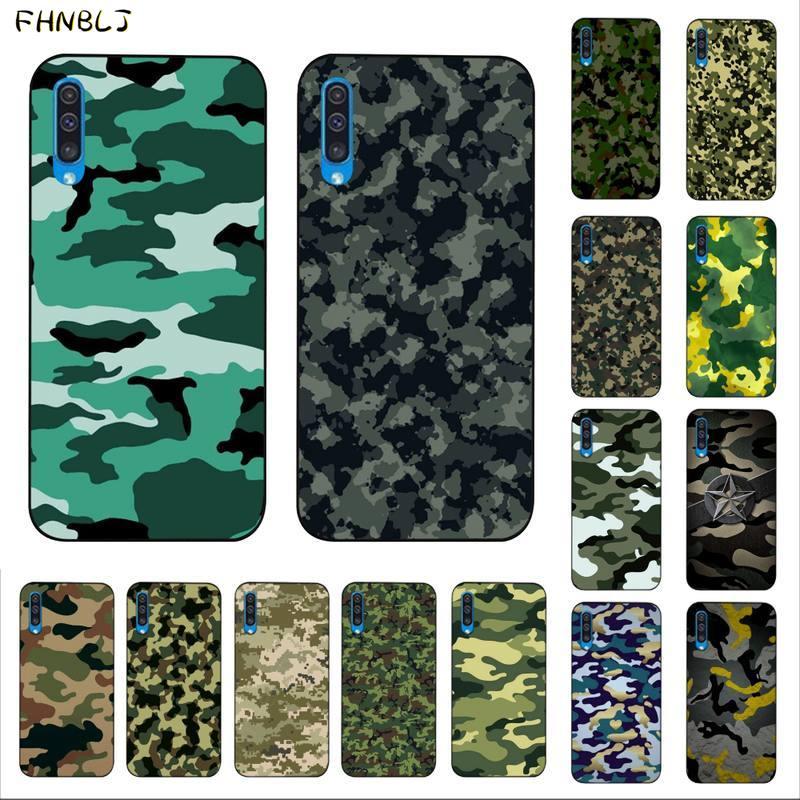 Funda de teléfono de calidad del cliente de camuflaje militar minimalista verde FHNBLJ para Samsung A10 20s 71 51 10 s 20 30 40 50 70 A30s
